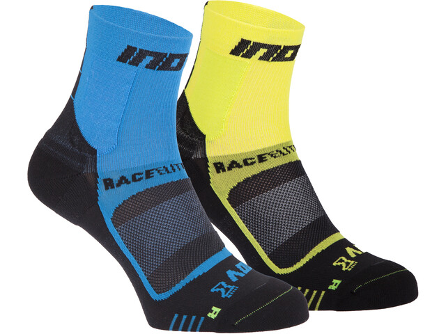inov-8 Race Elite Pro Chaussettes, blue/black yellow/black